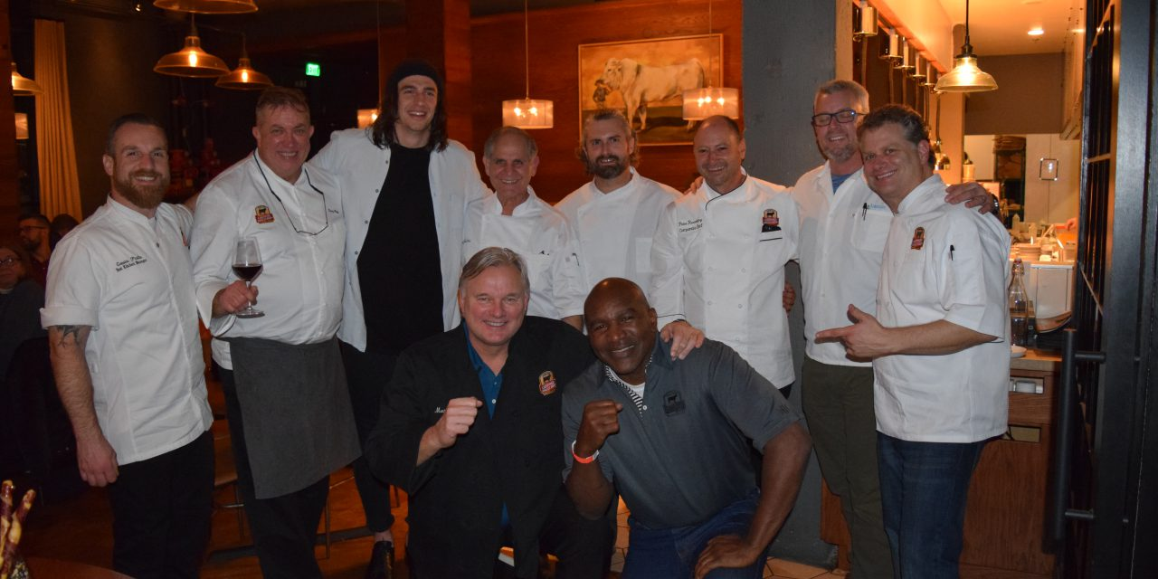 Holyfield and Andersen Unveil Signature Dishes at VIP Dinner