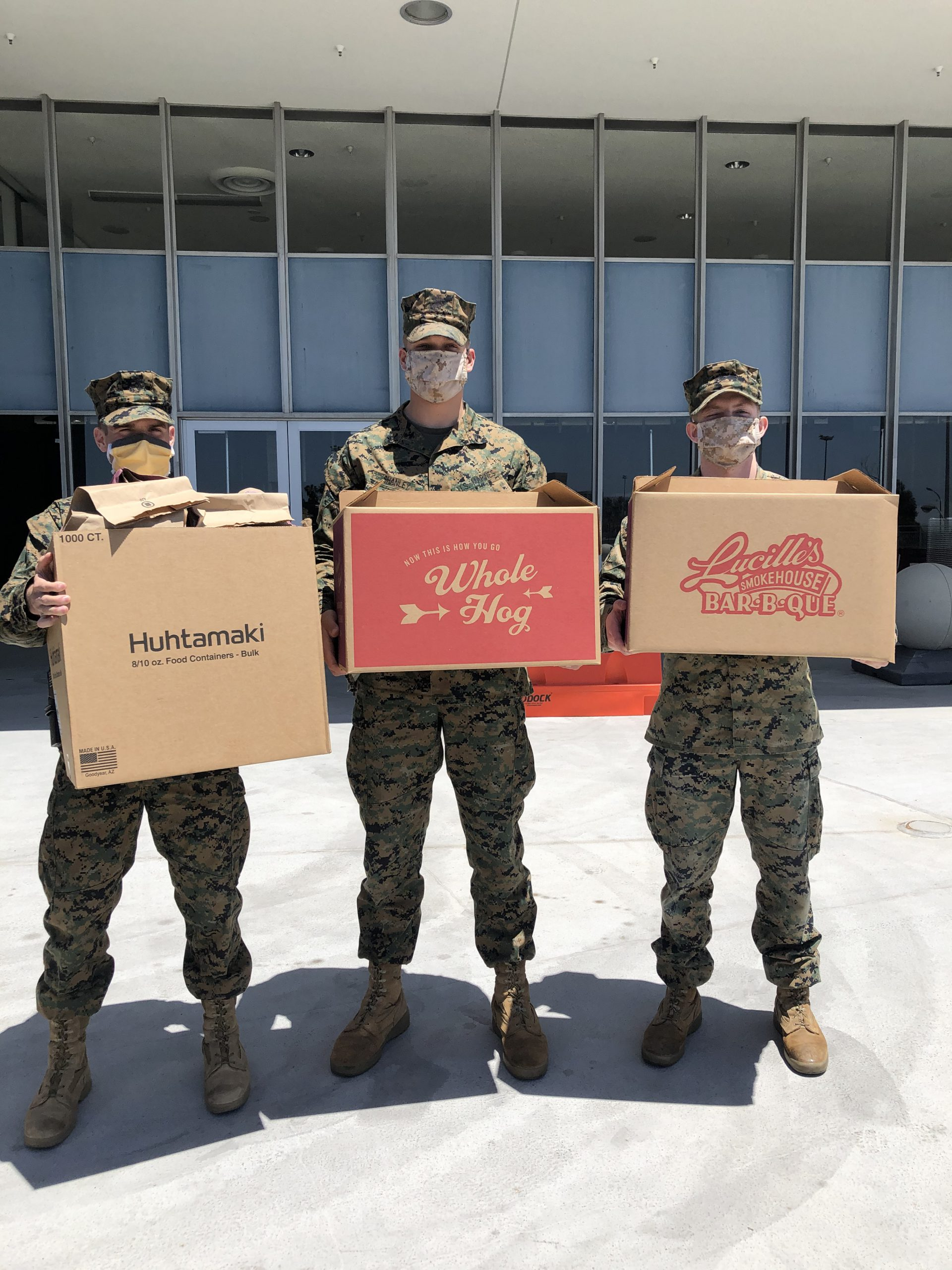 Lucille's Smokehouse Bar-B-Que Feeds Military Personnel