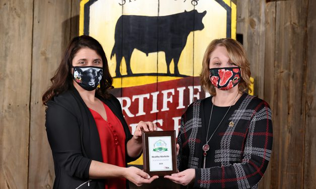 <em>Certified Angus Beef</em><sup> ®</sup> brand Earns Healthy Worksite Award