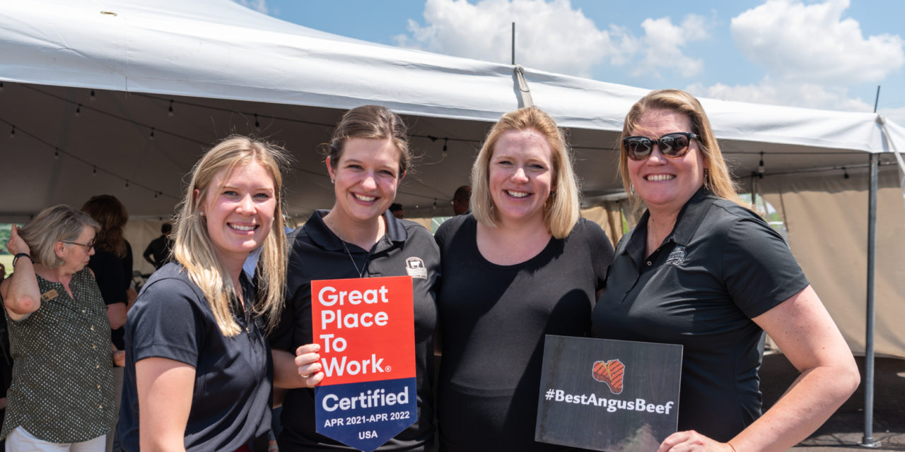 Certified Angus Beef Certified as Great Place to Work